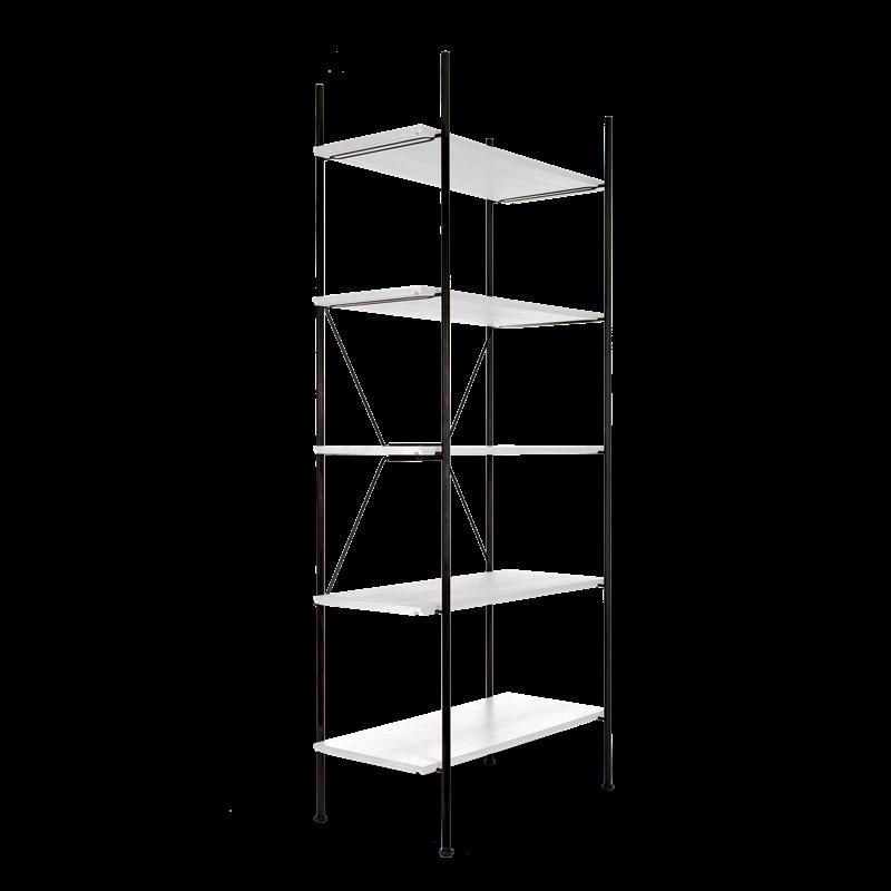Lagerregalsystem Hoch | Schwarz/Weiß