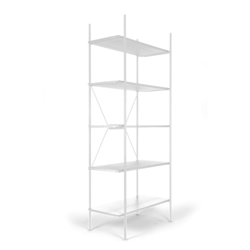 Lagerregalsystem Hoch | Weiß/Weiß