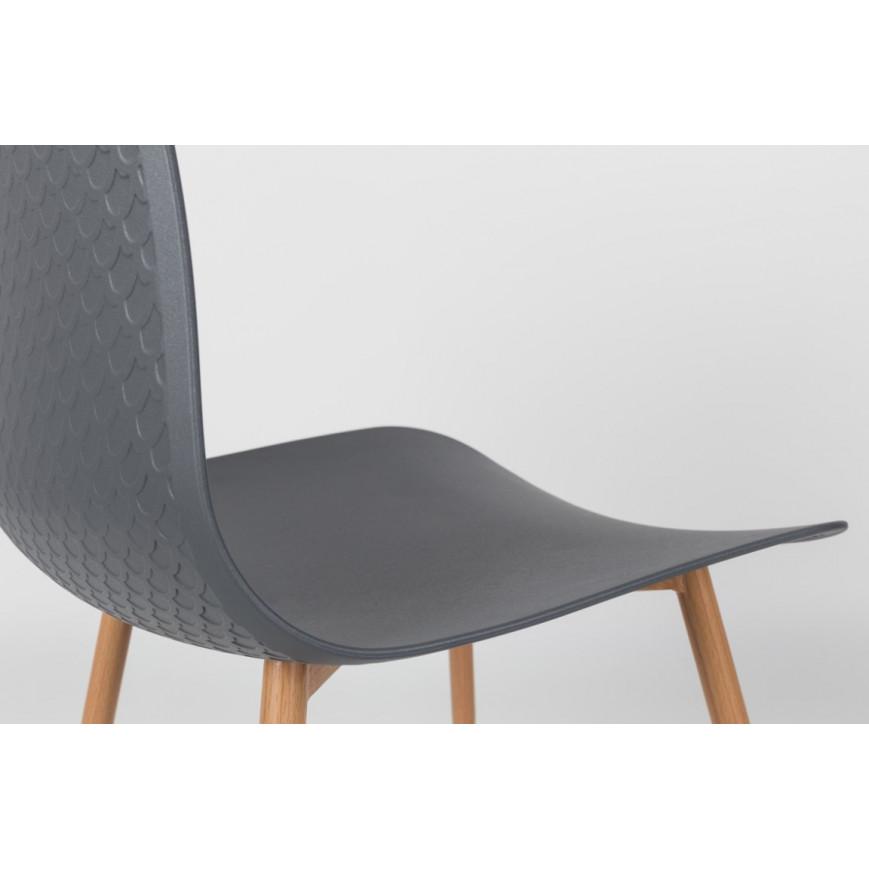 2-er Set Stühle Leon   Grau