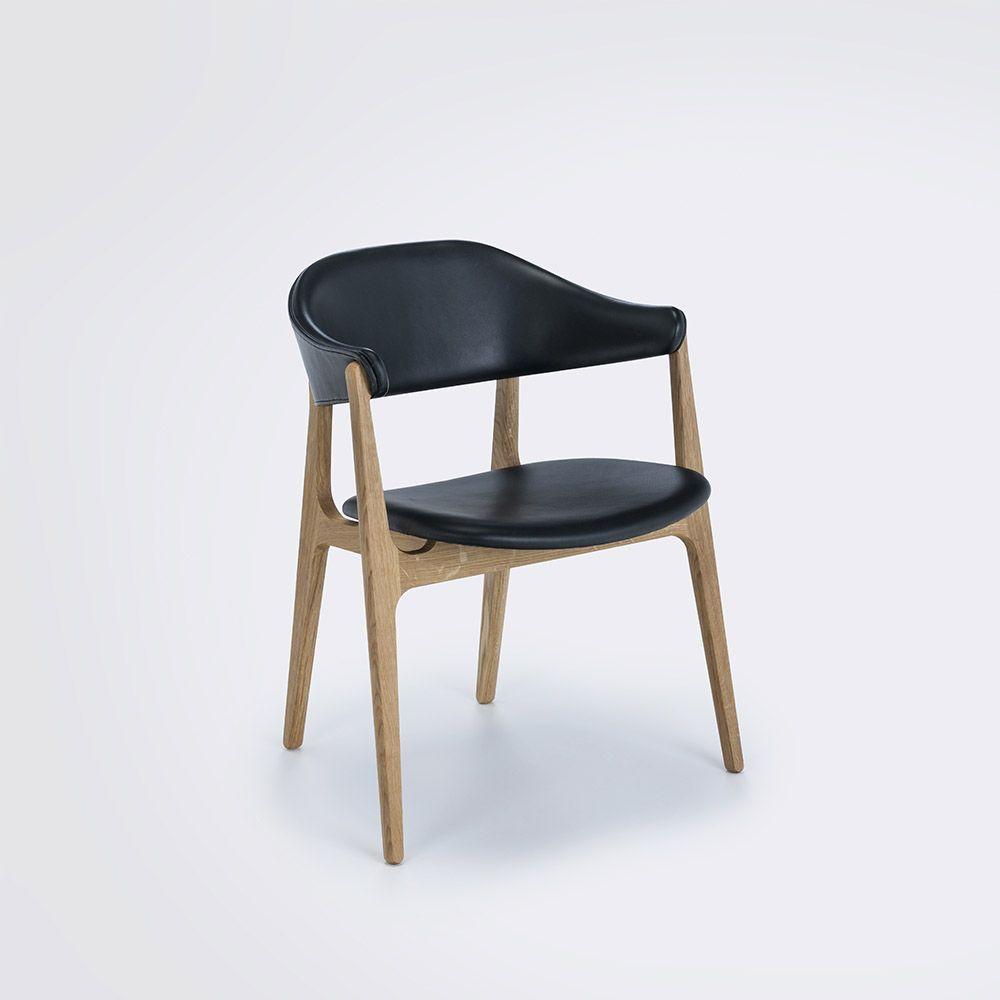 Stuhl Spän | Eiche / Schwarz