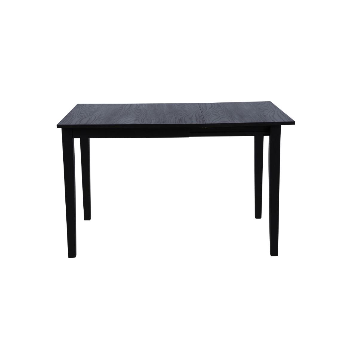 Ausziehbarer Tisch Salford | Schwarz