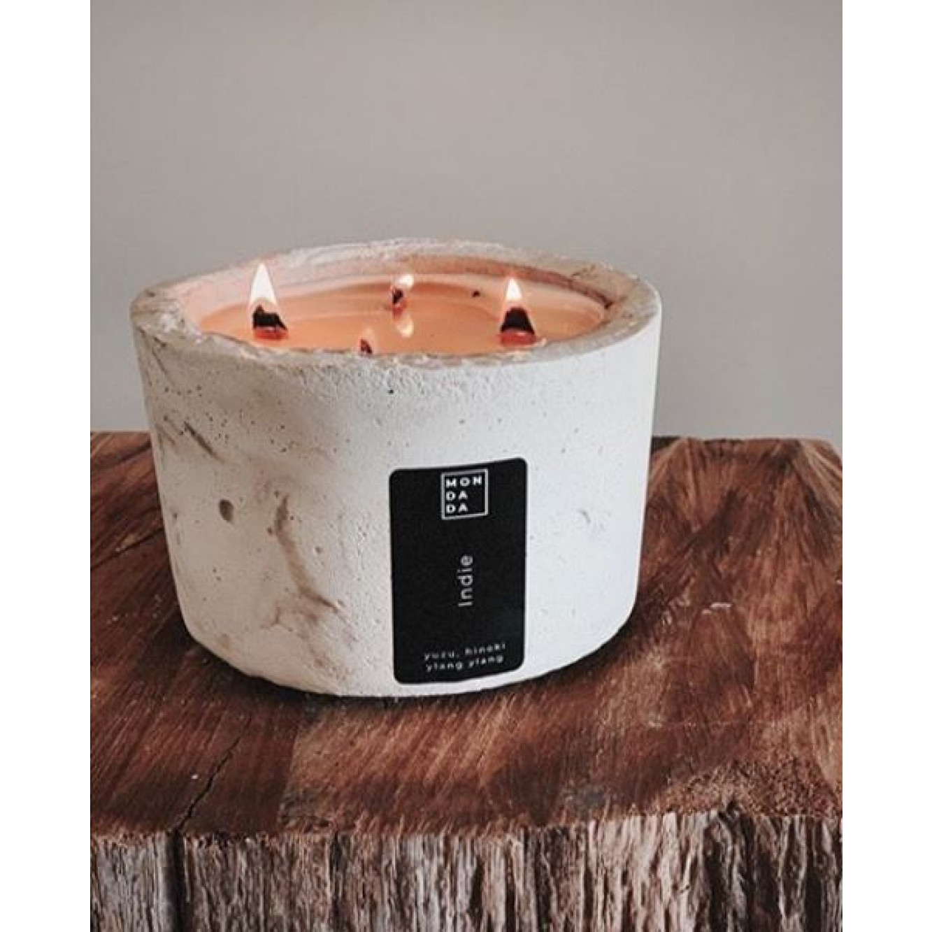 Scented Candle Indie   Grey