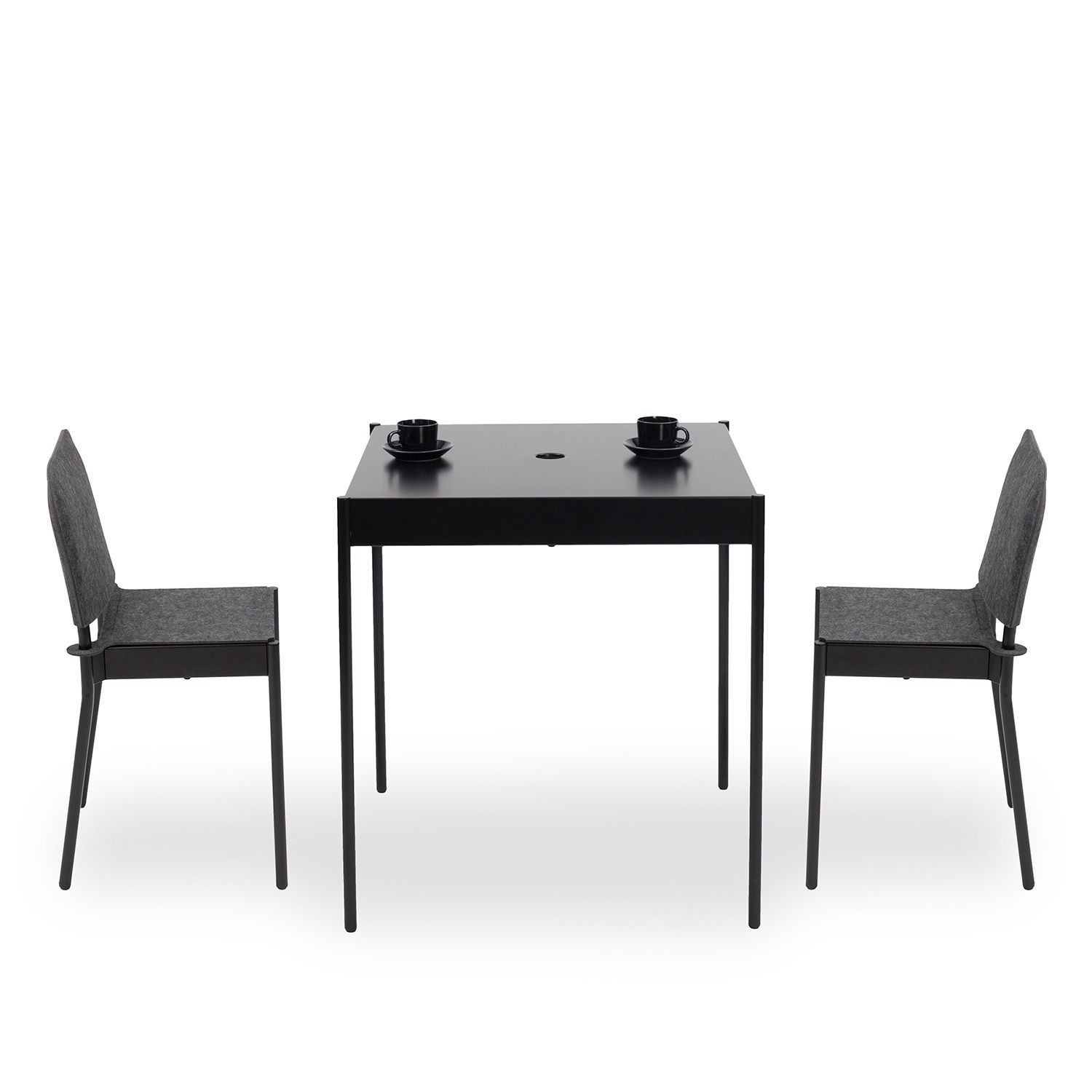 La Table Stackable Table T/670x670 | Black RAL 9005