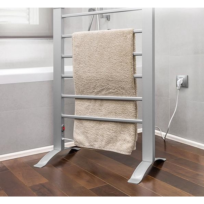 Electric Towel Rail   6 Bars   Grey