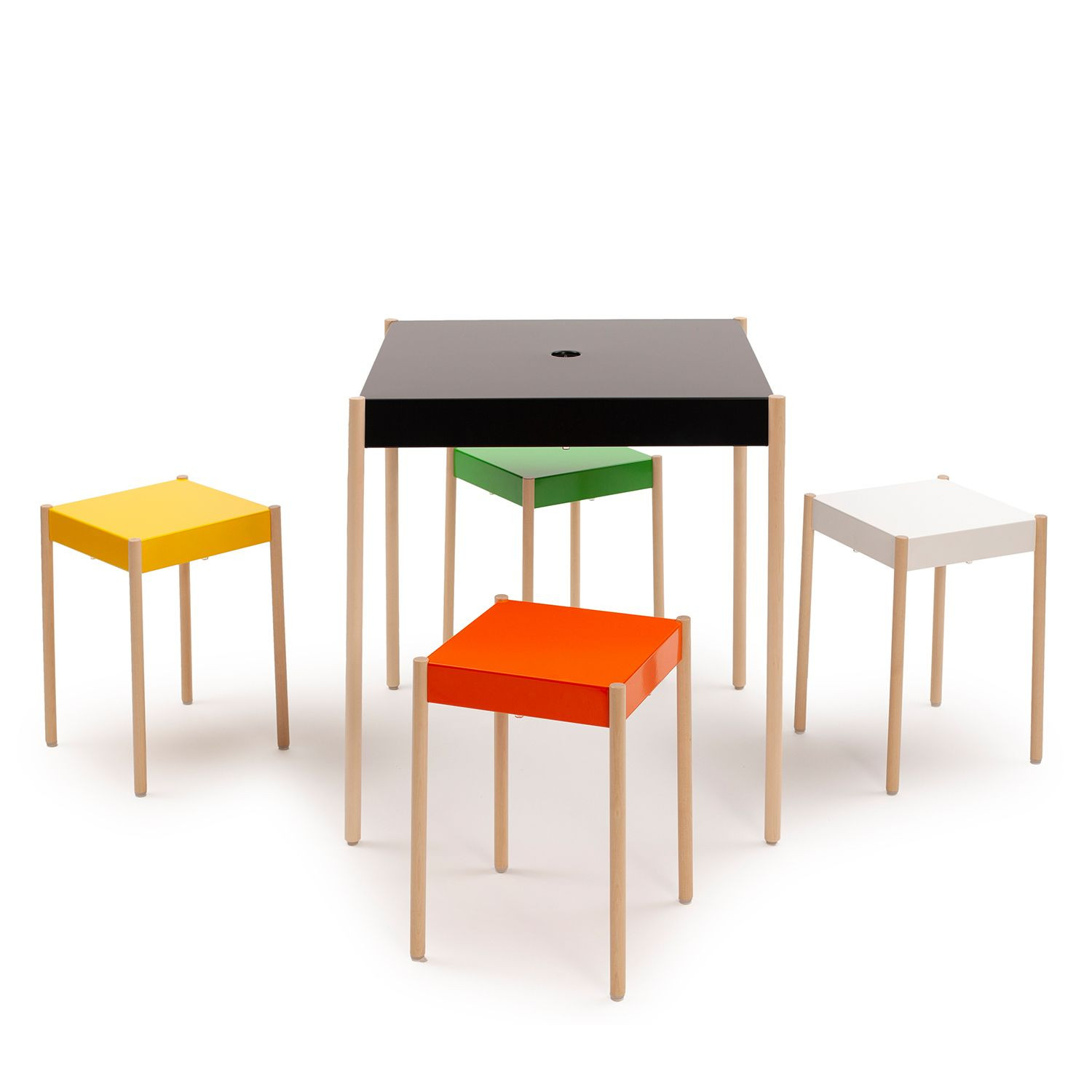 La Table Stackable Table TW/670x670   Black RAL 9005