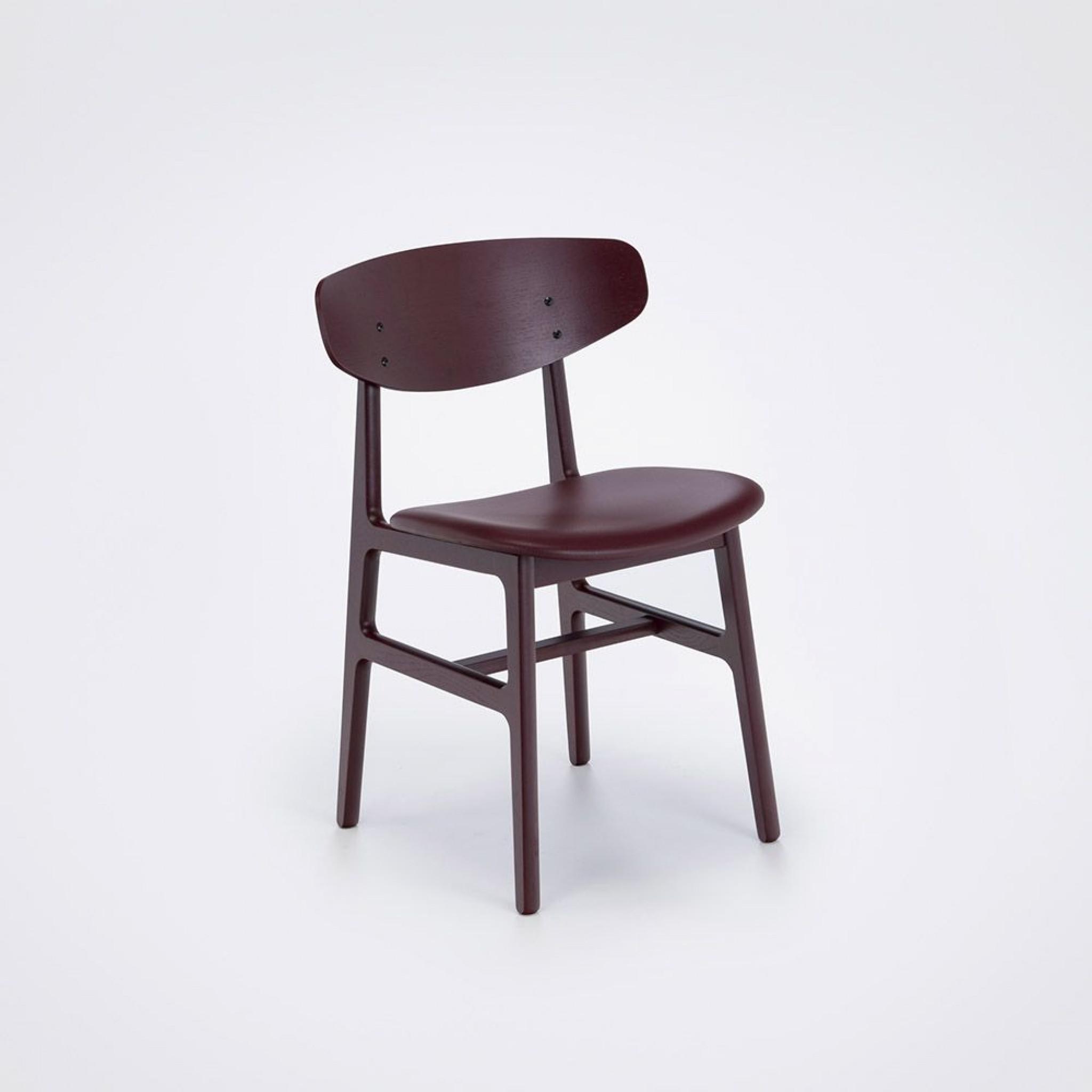 Stuhl Siko | Bordeaux Leather & Ash