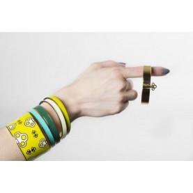 Thin Bangle Bracelet | Light Green