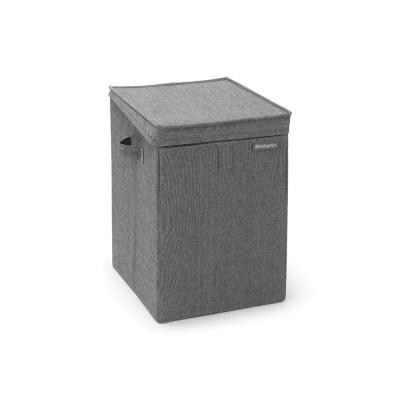 Faltbarer Wäschekorb 35 L | Dunkelgrau