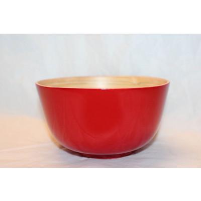 Bambus-Schale Rot