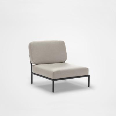 Outdoor-Lounge-Stuhl Level | Graumel Chalk