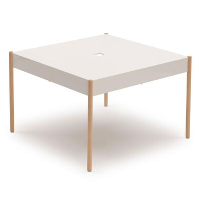 La Table Stapelbarer Sofa-Tisch STW/670x670 | Weiß RAL 9016