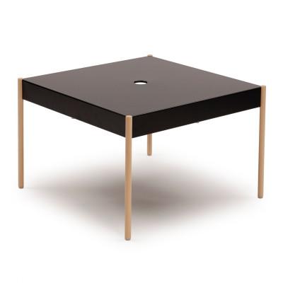La Table Stapelbarer Sofa-Tisch STW/670x670 | Schwarz RAL 9005