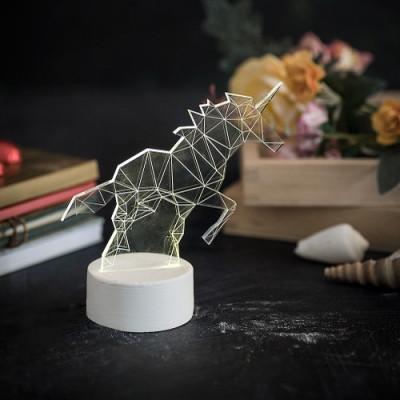 Einhorn Tischlampe | Weiß