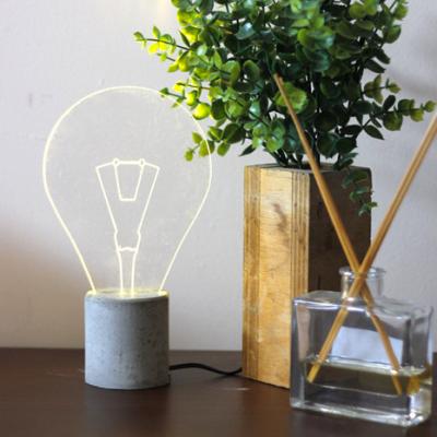 Tischleuchte mit freiliegender Glühbirne | Grau