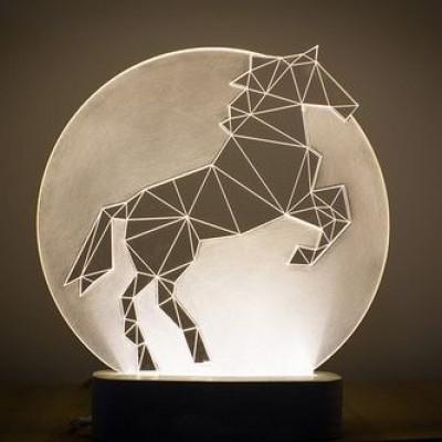 Full Moon horse lamp