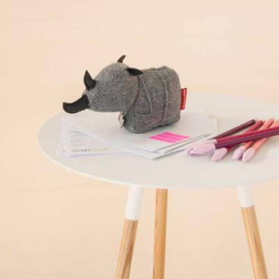 Schreibtischhelfer Sir George das Nashorn | Filz | Grau