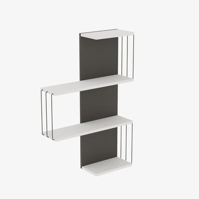 Wall Shelf Cambel I White & Anthracite