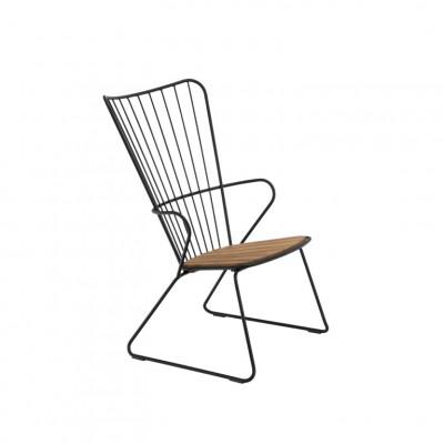 Garten-Lounge-Stuhl Paon | Schwarz