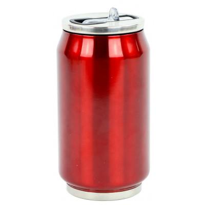Isotherme Blechdose 280 ml | Rot glänzend