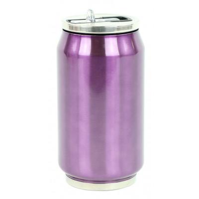 Isotherme Blechdose 280 ml | Violett glänzend