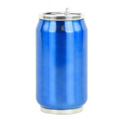 Isotherme Blechdose 280 ml | Blau glänzend