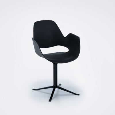 Stuhl mit Armlehne Falk | Schwarz Metall