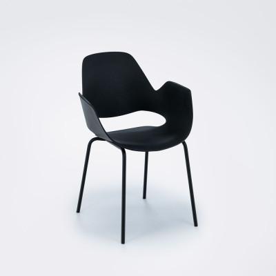 Stuhl mit Armlehne Falk | Schwarz