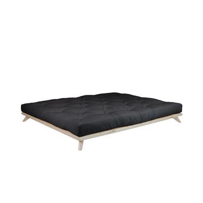 Bett Senza + Matratze Comfort | Naturel-160x200cm