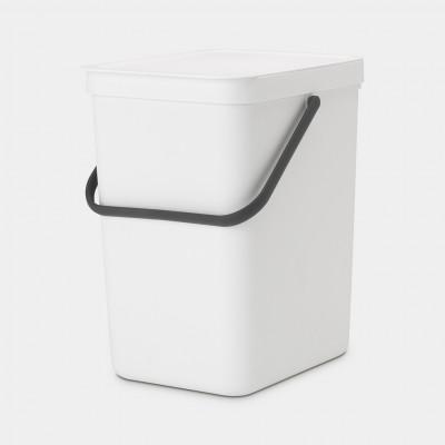 Mülleimer Sort & Go 25 L   Weiß