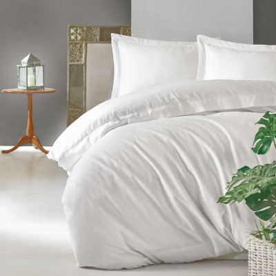 Bettbezug Elegant 240 x 220 cm / Kissenbezug 60 x 60 cm | Weiß