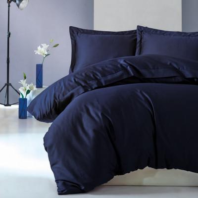 Bettbezug Elegant 240 x 220 cm / Kissenbezug 50 x 80 cm | Dunkelblau
