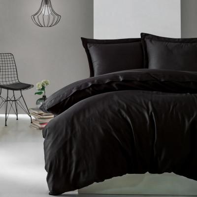 Bettbezug Elegant 240 x 220 cm / Kissenbezug 50 x 80 cm | Scwharz