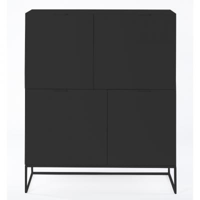 Sideboard Xian 110x45x130   Mattschwarz
