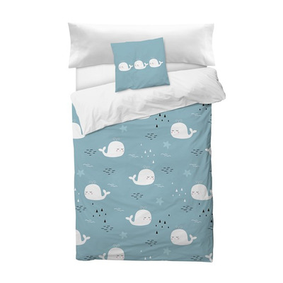 Bettbezug Deep I Blau 155x220 + 110x45 cm