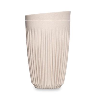 Wiederverwendbare Kaffeetasse + Deckel Huskee 36 cl | Naturel