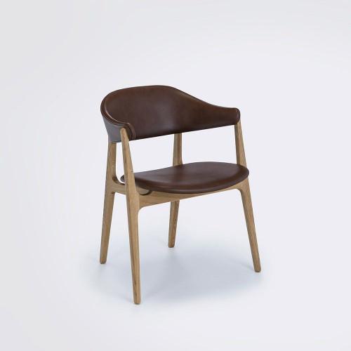 Stuhl Spän   Eiche / Cognac