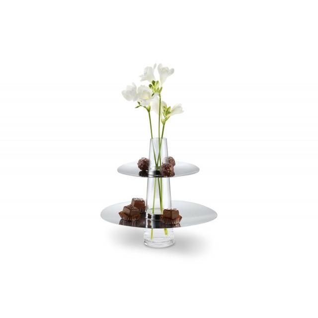 Servirbrett und Vase Fontaine