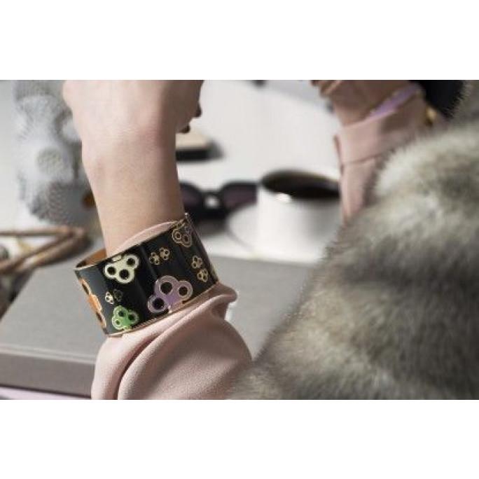 Key Bangle Bracelet | Grey/Green