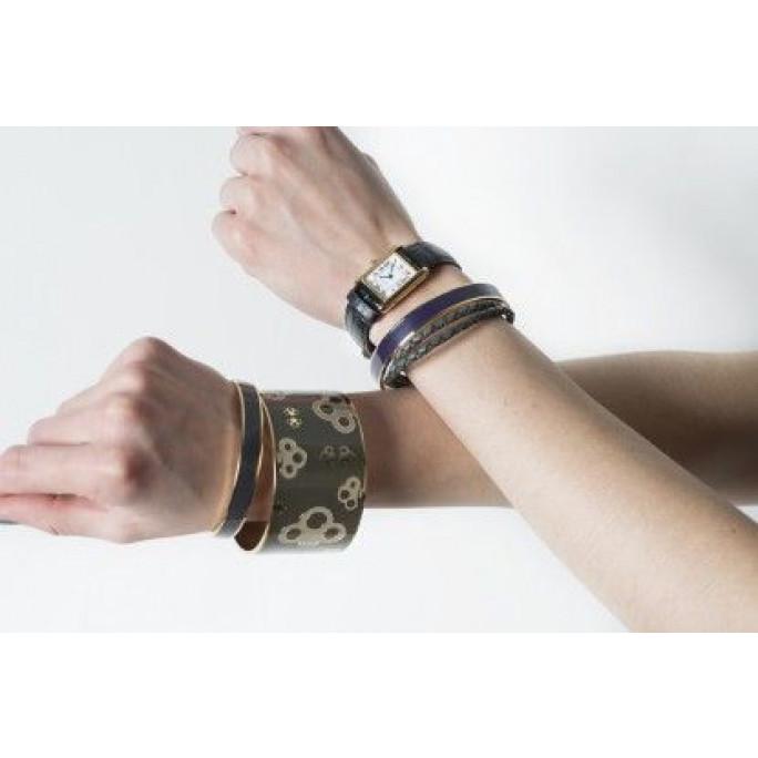 Key Bangle Bracelet | Plum Purple
