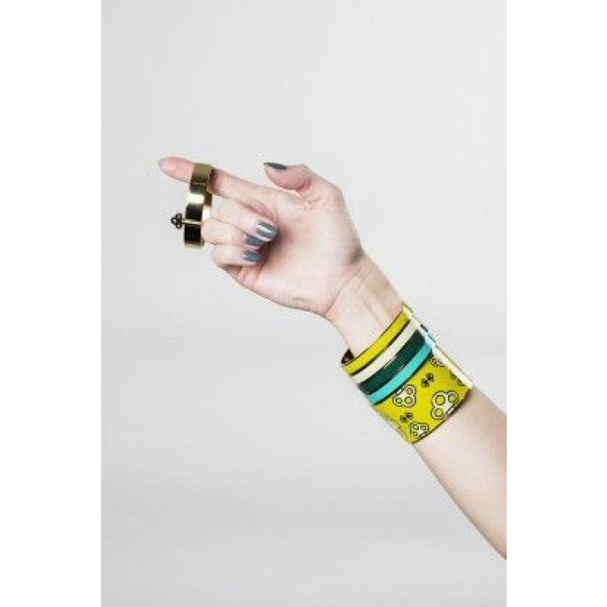 Thin Bangle Bracelet   Black