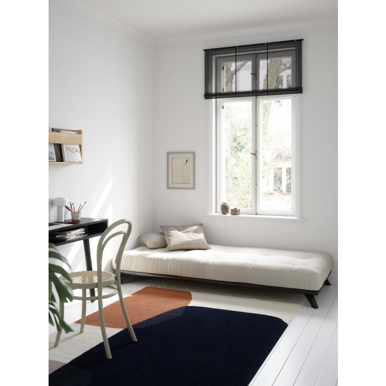 Bettrahmen Senza Comfort | Schwarz/Natur-90 x 200 cm