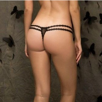 Thong   Black 139