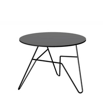 Twist Runder Tisch Schwarz   Klein