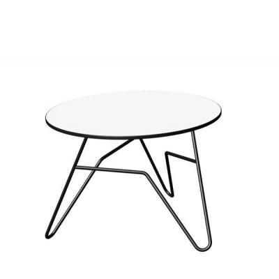 Twist Runder Tisch Weiß   Klein