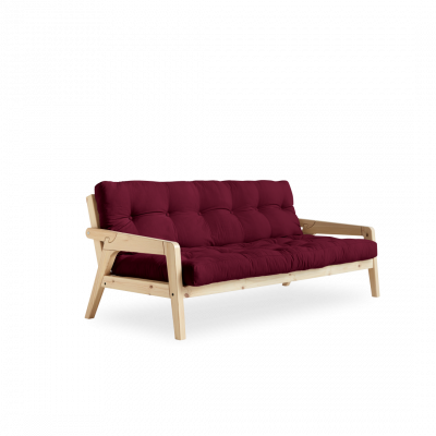 Sofabed-Greifer | Natürlicher Rahmen + Bordeaux-Matratze