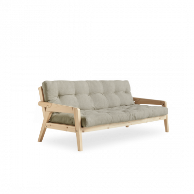 Sofabettgreifer | Natürlicher Rahmen + Leinenmatratze
