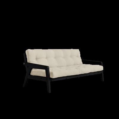 Sofabed-Greifer | Schwarzer Rahmen + Beige Matratze