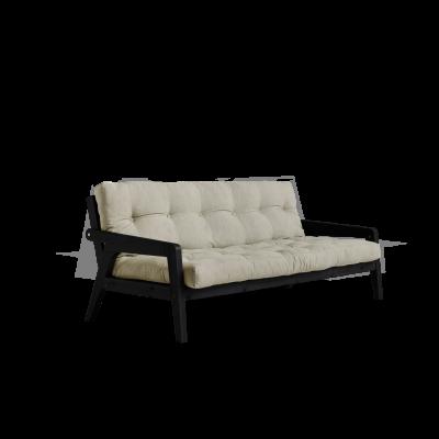 Sofabed-Greifer | Schwarzer Rahmen + Leinenmatratze