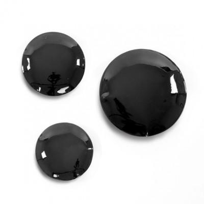 PIN-wall hanger, set of 3 BLACK