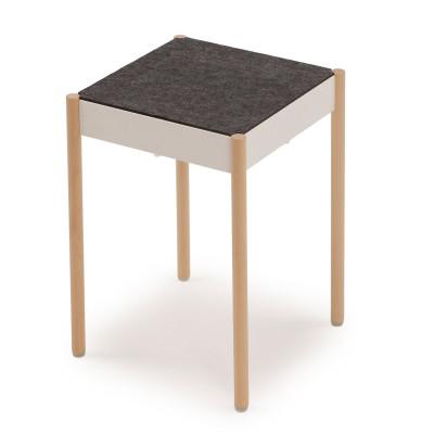 La Table Stapelbarer Hocker B1W/FG | Weiß RAL 9016